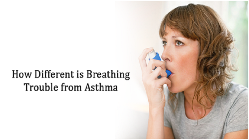 How different is breathing trouble from asthma